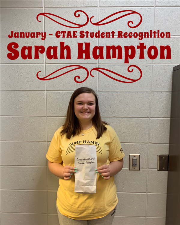 CTAE Student Recognition - January